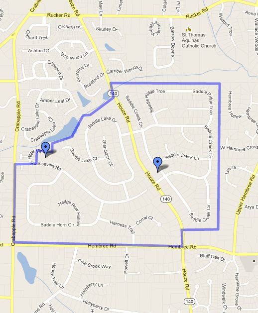 Saddle Creek map